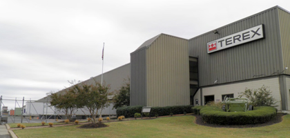 Terex Cranes part warehouse in Southaven, Mississippi
