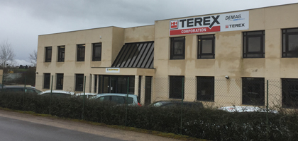 Terex Cranes location in Torcy, France