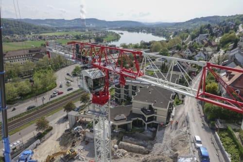 Terex CTT 162-8 during erection in Waldshut