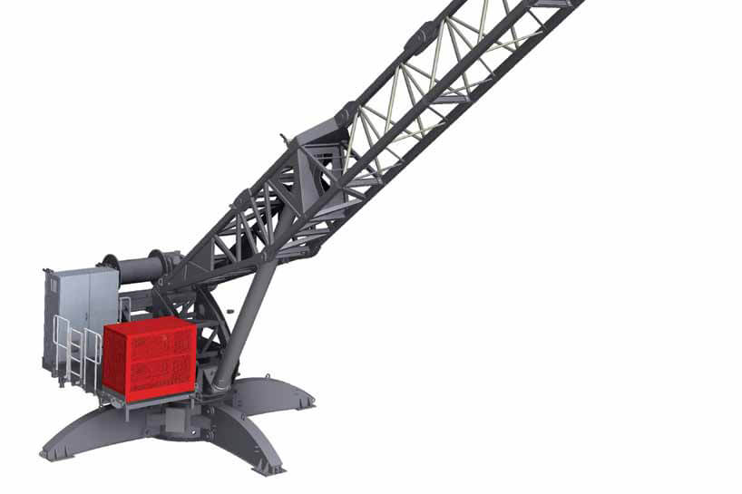 Terex CDK 100-16 (Derrick) luffing jib tower crane listing image