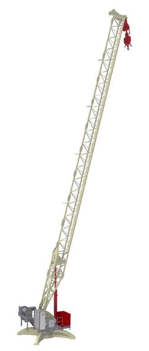 Terex CDK 100-16 (Derrick) luffing jib tower crane