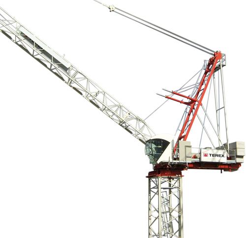 Terex CTL 140-10 luffing jib tower crane alt1