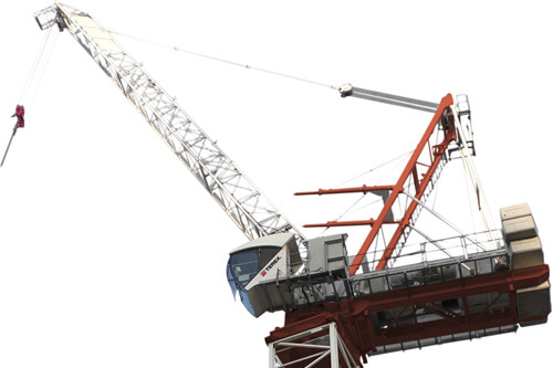 Terex CTL 140-10 luffing jib tower crane listing image