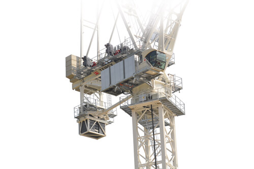 Terex CTL 1600-66 luffing jib tower crane