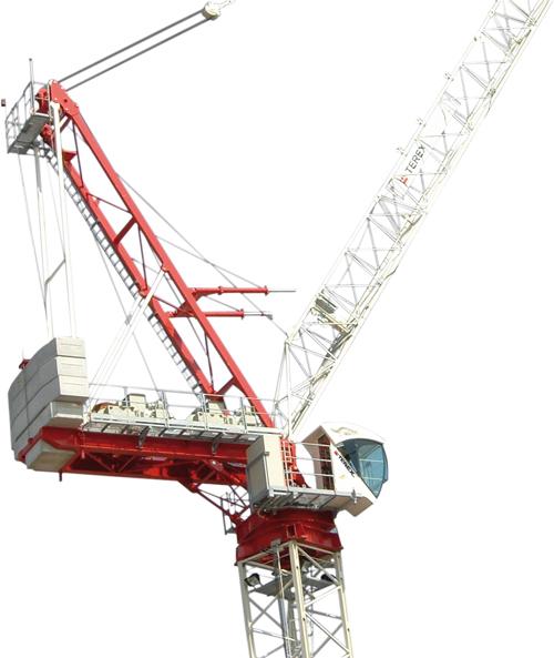 Terex CTL 180-16 luffing jib tower crane alt2