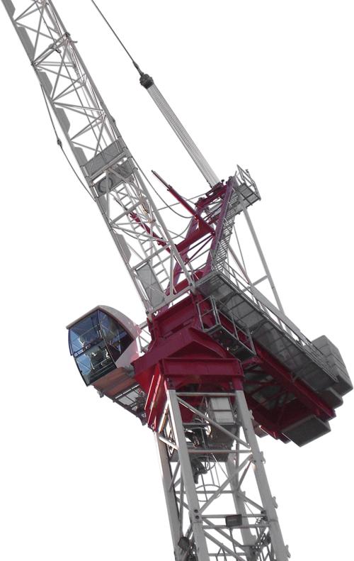 Terex CTL 260-18 luffing jib tower crane alt1