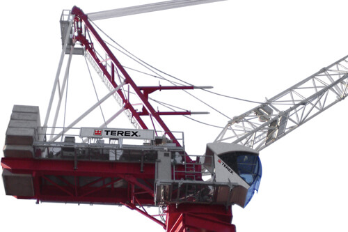 Terex CTL 260-18 luffing jib tower crane listing image