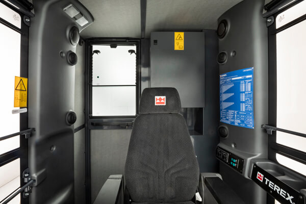 Seat in Terex tower cabin