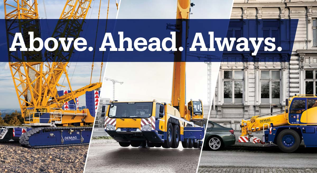 Demag. Above. Ahead. Always.