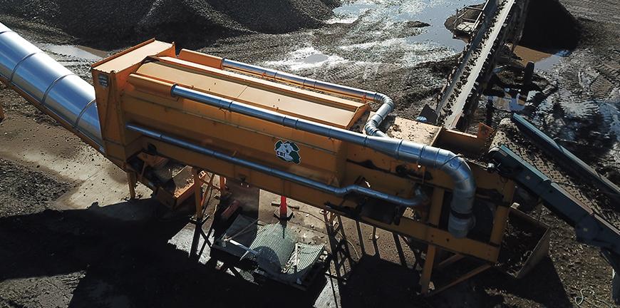 AirMax Material Density Separator separating wood and stone