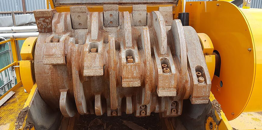 CBI Grizzly Mill rotor for wood waste grinding