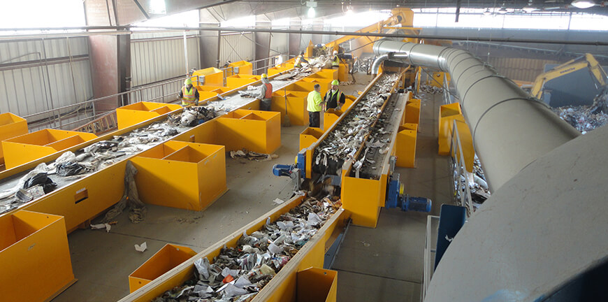 Construction and demolition recycling facility