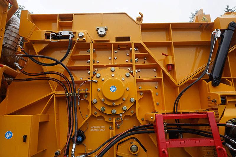 Horizontal Grinder Rotary Chamber Exterior