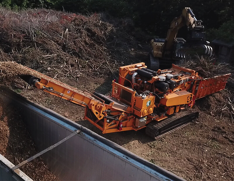 6800CT grinder top loading trailer