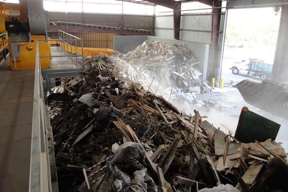 Construction Waste Recycling inbound debris