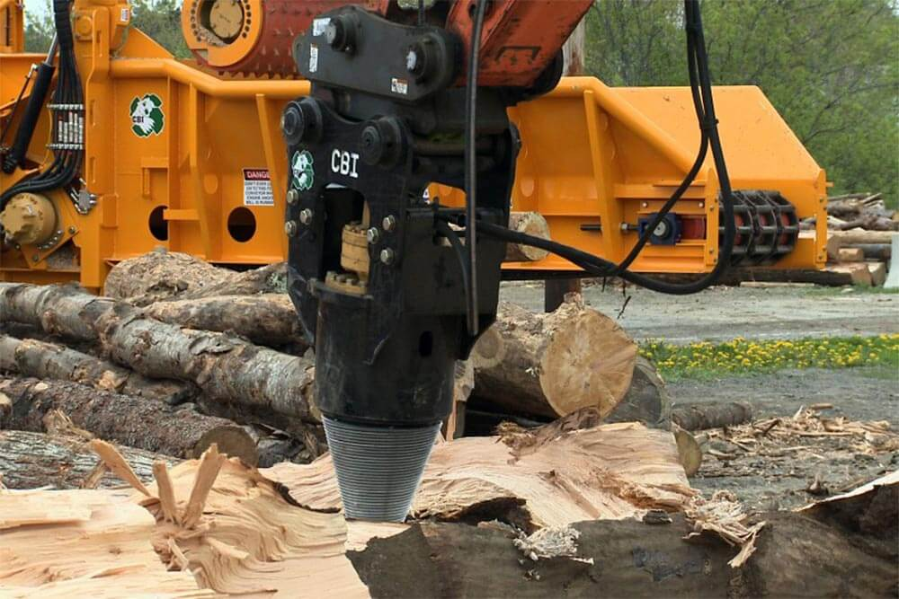 log and stump screw log splitter