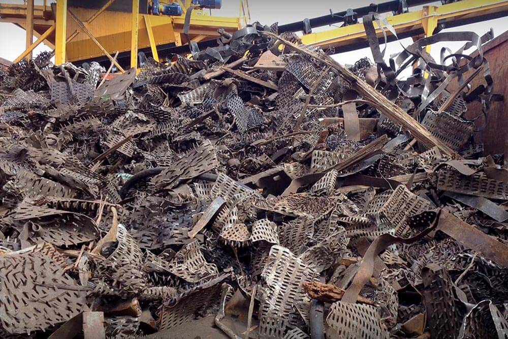 steel removed from railroad ties