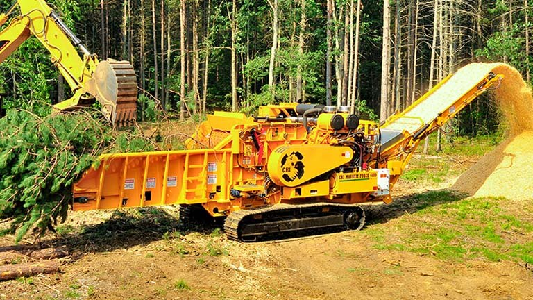 6400 Industrial Wood Chipper