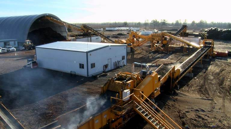 Railroad tie grinding and recycling