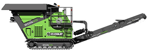 Bison 120 Crusher Product Render Side View
