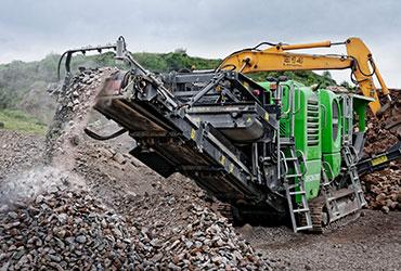 Bison 280 working with Excavator in Ireland