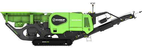 Bison 280 Jaw Crusher Machine Side View