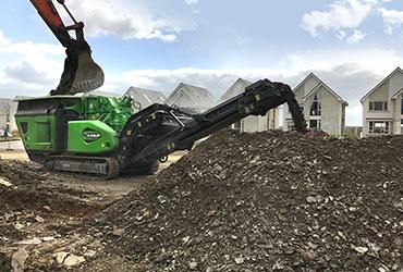 Cobra 230 Loaded by Excavator in Dundalk
