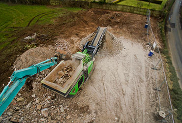 Cobra 290 being fed Stone for Crushing in Ireland