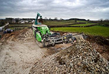 Cobra 290 Crushing Stone in Ireland