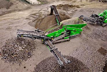 Crushing and Screening Machines Processing Rock