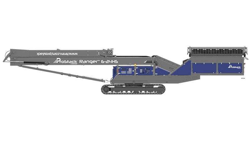 Prostack 6-24HS Tracked Conveyor Transportation View