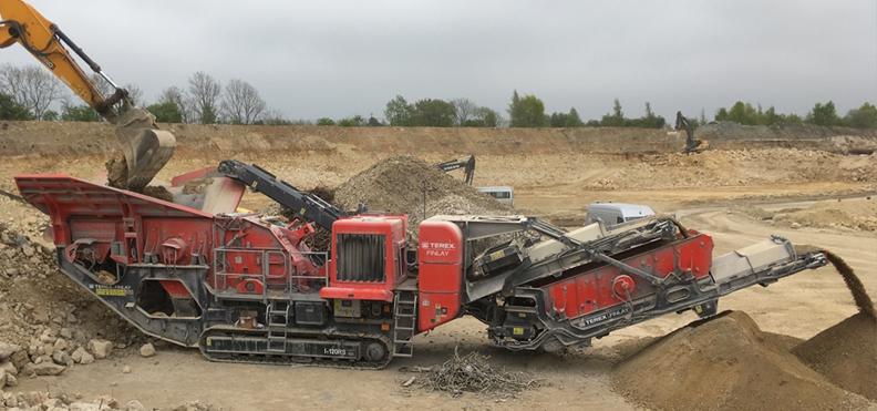 Jobreport Terex Finlay I-120RS Impact Crusher (Concrete & Demolition)
