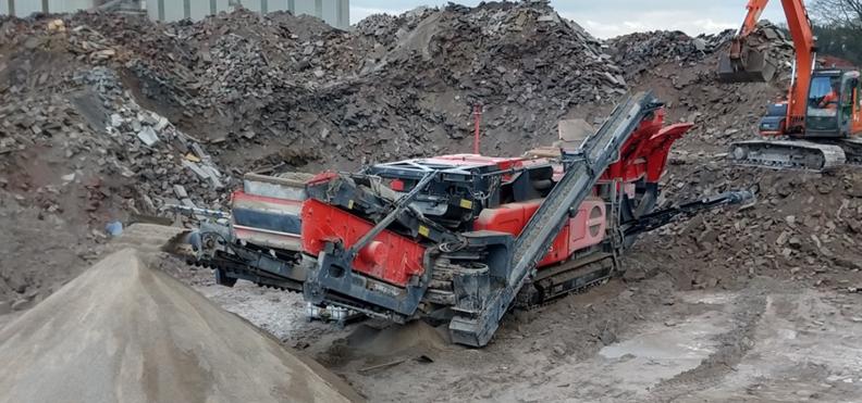 Jobreport Terex Finlay I-120RS Impact Crusher