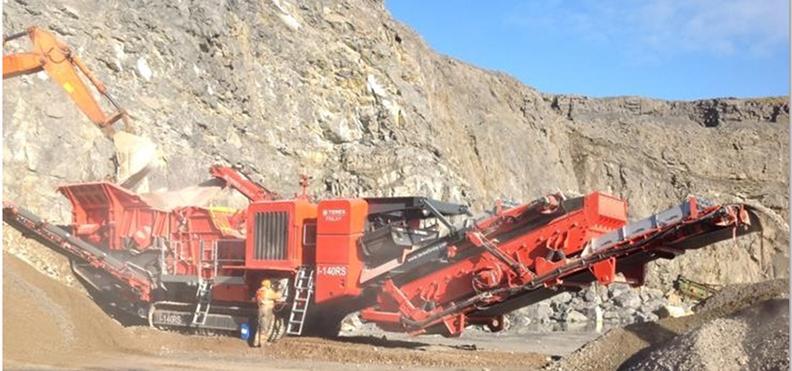 Jobreport Terex Finlay I-140RS Impact Crusher (Limestone)