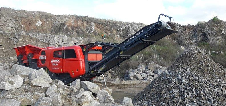 Jobreport Terex Finlay J-1170 Jaw Crusher (Granite)