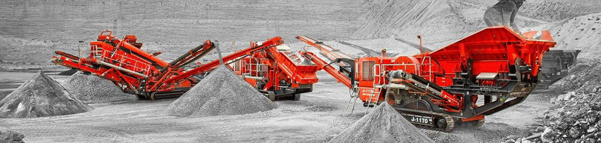 Three Finlay Machines Lined up in a Quarry