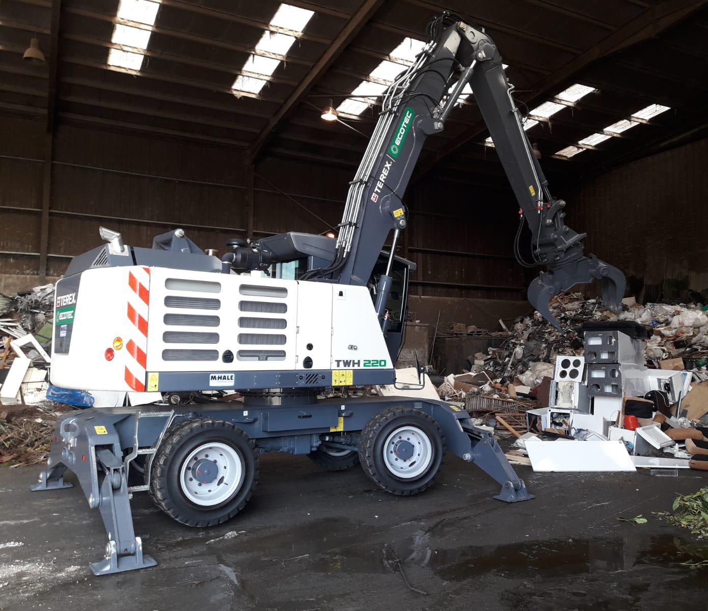 TWH220 Waste Handler on Site