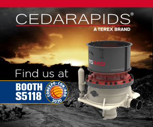 Find us at CONEXPO-CON/AGG 2020 at Booth S5118