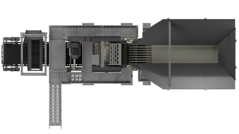Top view of MJ55 jaw module