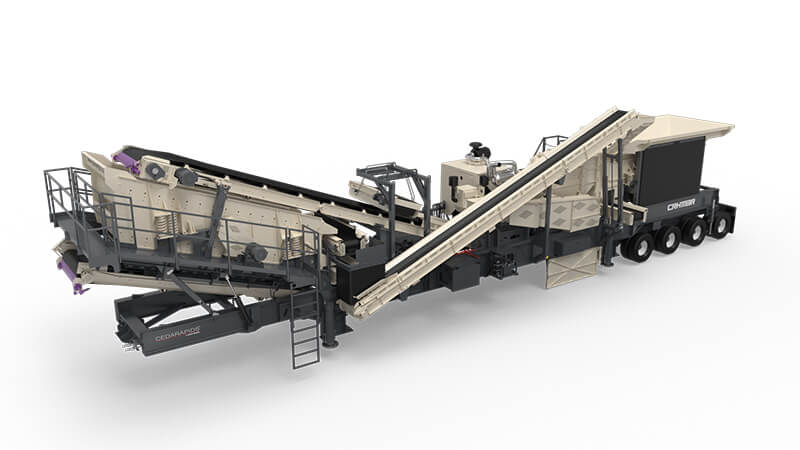 CRH1113R portable impactor / screen plant