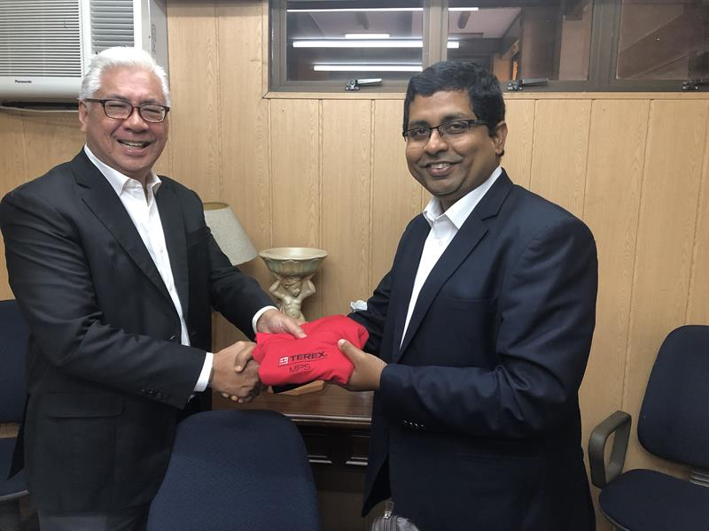 Gabriel Intengan President and CEO of Sunstate Machinery Corporation and Jaideep Shekhar Managing Director - MP India South East Asia  Middle Ea